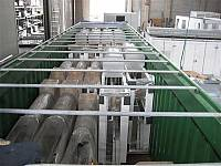 Shipment of enclosures inside a container