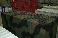Military containers with polychrome paint