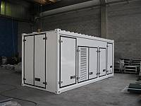 Super sound-attenuated container, for rental