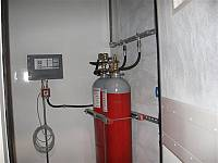 Fire-fighting system - Internal cylinders and central unit