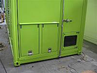 Hinged door for cable entry