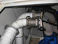 Insulation of exhaust gas piping lines
